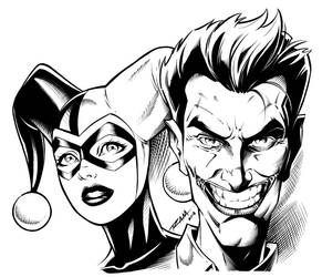 Joker and Harley Quinn - Inks
