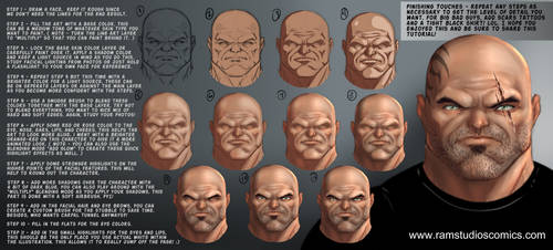 Digital Painting Tutorial - Step by Step - Bad Guy by robertmarzullo