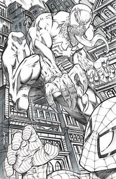 Venom Attacking Spider-man