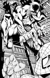Venom Attacking Spiderman by robertmarzullo