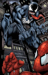 Venom Attacking Spiderman