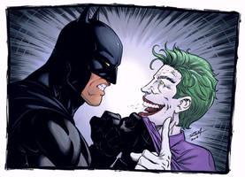 Batman and the Joker by robertmarzullo