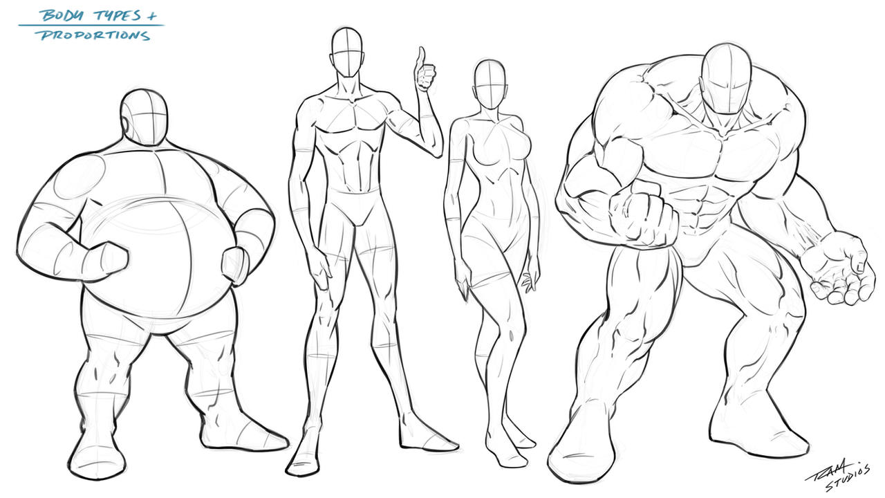 Body Types And Proportions Reference By Robertmarzullo On