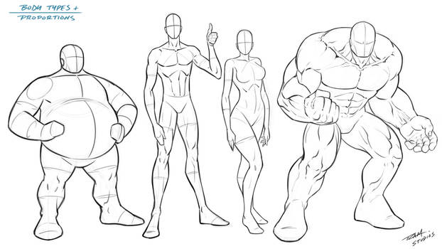 Body Types and Proportions - Reference