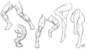Leg Poses - Male and Female