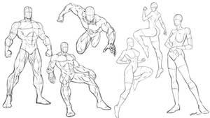 Superhero Comic Art Poses
