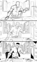 Comic Art Panel Progression - J. Jonah Jameson