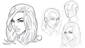 Drawing a Comic Style Face Angled View