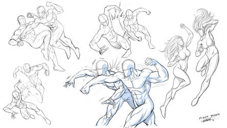 Fighting Poses for Comics