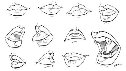 Drawing Female Lips