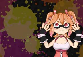 Ichigo Splatoon Cover Art by RazuKat