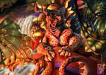 [COMMISSION]: Sun Temple Guardian by Giiana