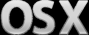 Mac OS X logo (vector)