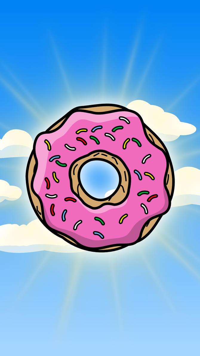 Cartoon Donut Wallpaper (mobile) by TheGoldenBox on DeviantArt