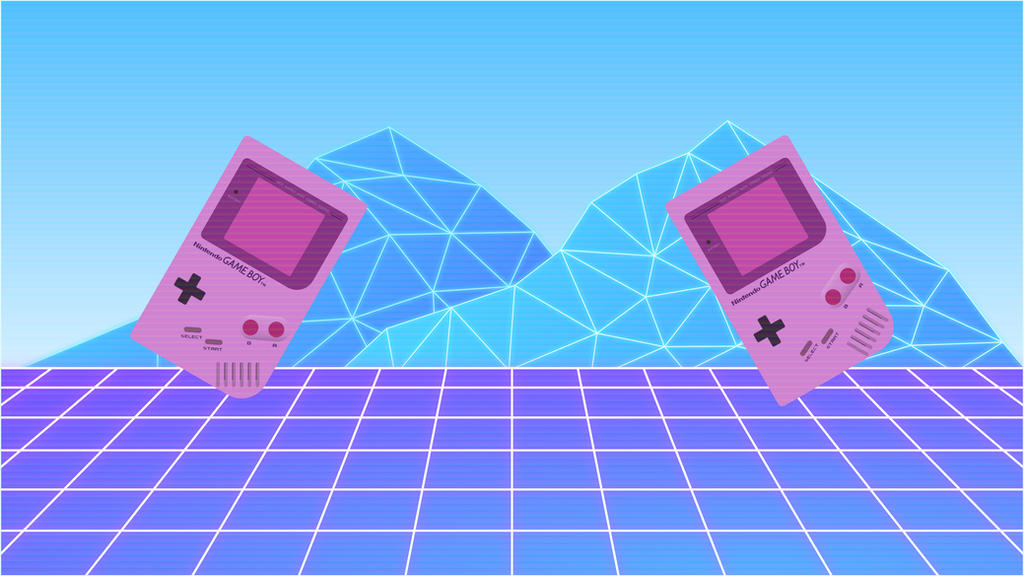 Gameboy Vaporwave (4K) by TheGoldenBox on DeviantArt