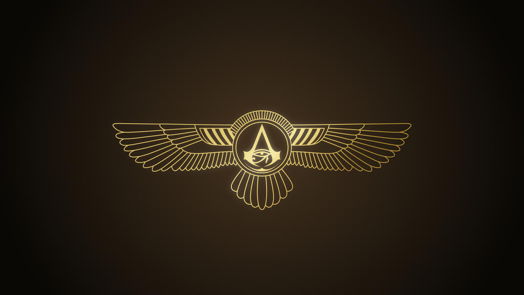 Assassin S Creed Origins Winged Logo 4k By Thegoldenbox On