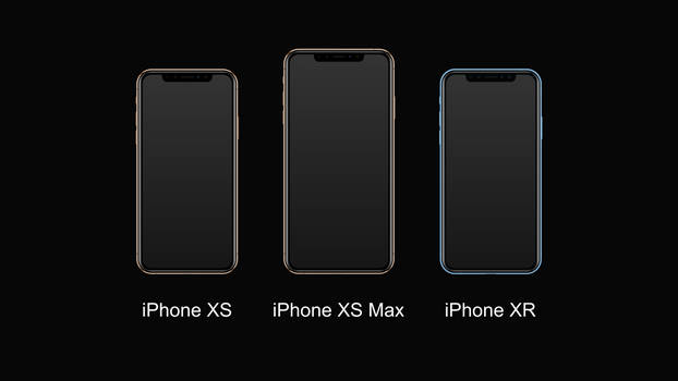 iPhones 2018 (SVG)