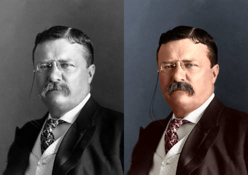 Colorized Theodore Roosevelt