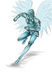 Terraria Doodle - Frost Armor by Balticdragon