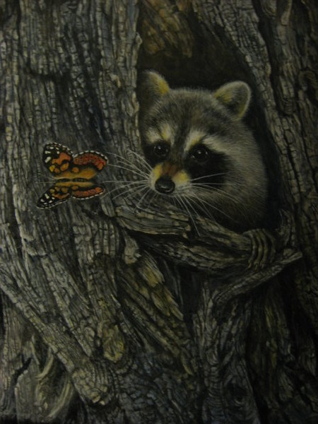 Raccoon Painting by reggy66 on DeviantArt Raccoon Painting