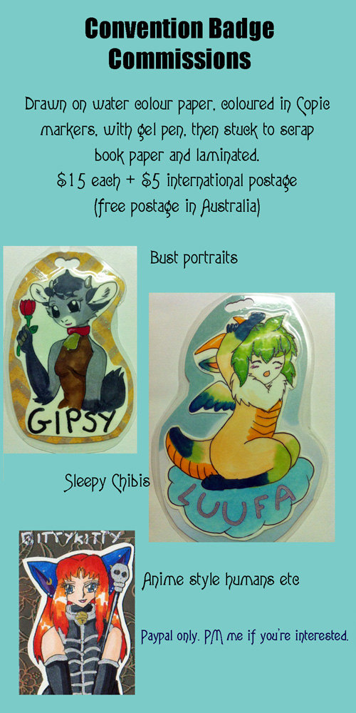 Badge Commissions open by bittykitty