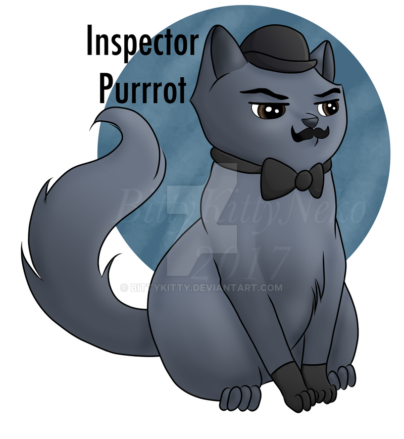Inspector Purrrot by bittykitty