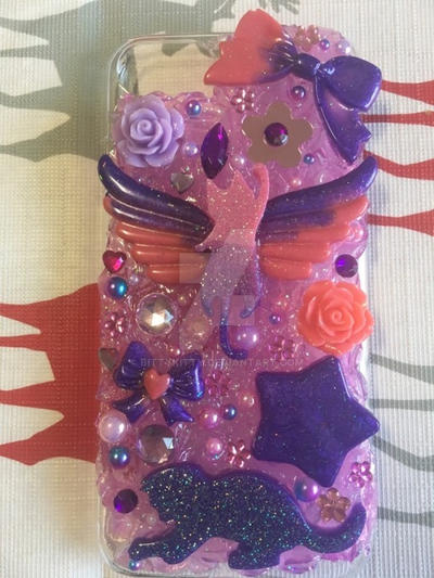 Pink and Purple Deco Phone case by bittykitty