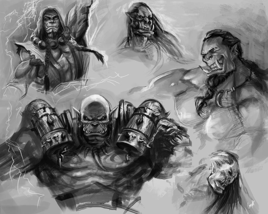 Orc study by jellyxbat