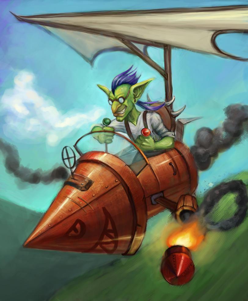 Flying rocket-bomber! by jellyxbat