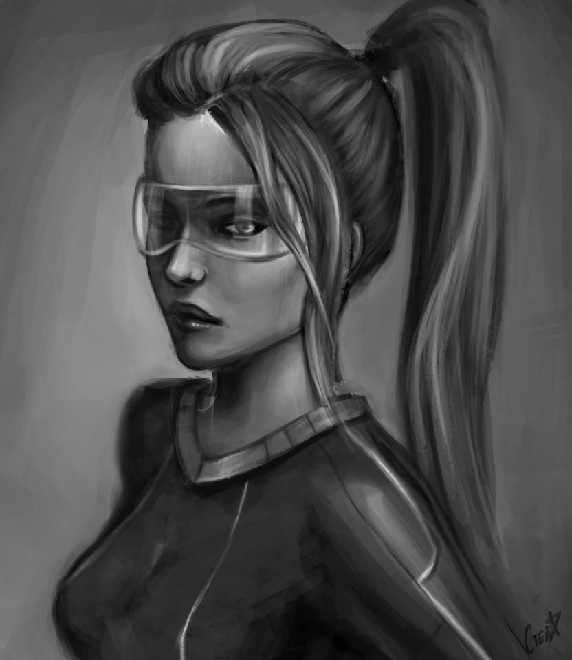 Scifi girl by jellyxbat