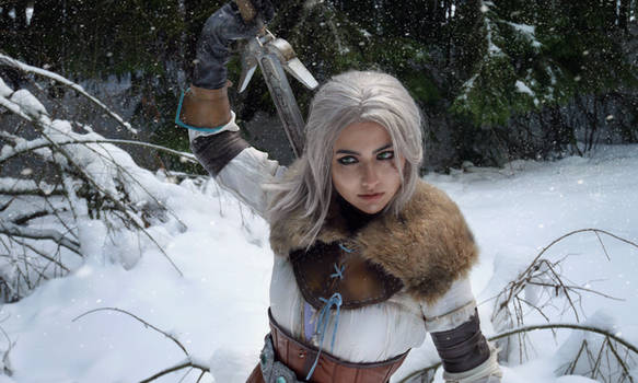 A Witcher in winter by jellyxbat