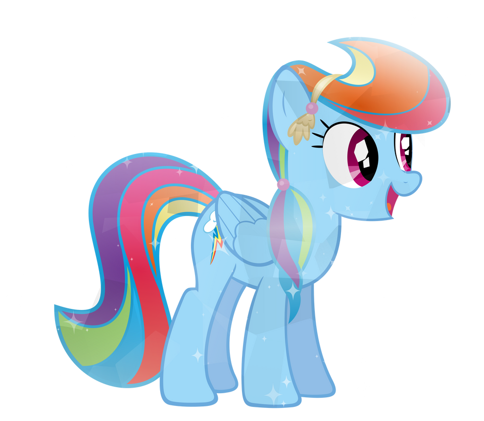 Crystal Rainbow Dash by Sairoch