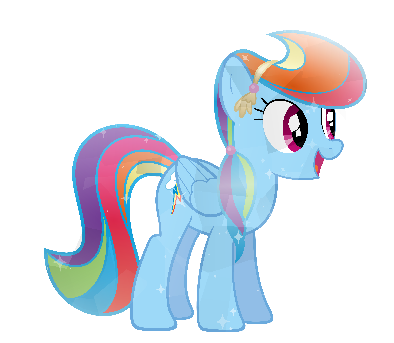 Crystal Rainbow Dash by Sairoch