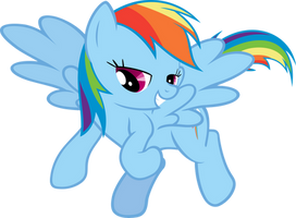 Rainbow Dash Nudging by Sairoch