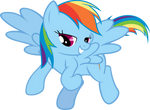 Rainbow Dash Nudging