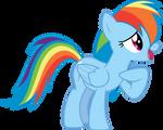 Shy Rainbow Dash