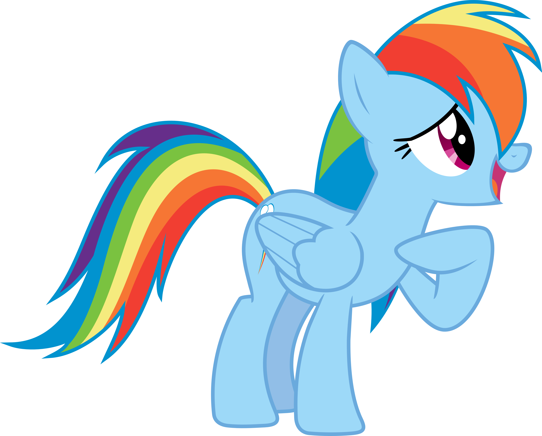 Shy Rainbow Dash by Sairoch
