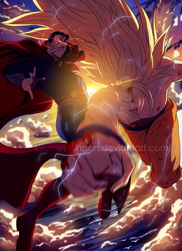Superman~vs~Goku by kyubisharingan