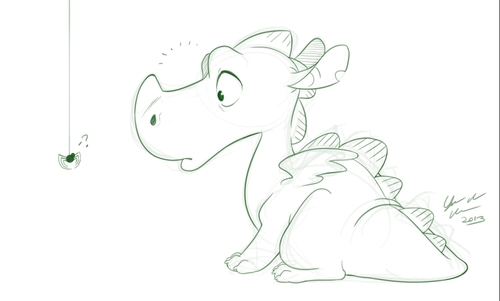 Sketch-blog: Little dragon by Pjevsen