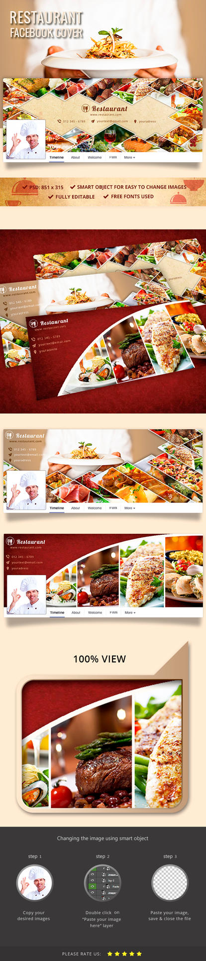 Restaurant Facebook Cover by Yoopiart