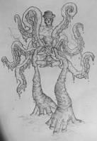 octopus girl sketch