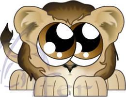 Lion Fuzzball by Juandfr