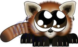 Red Panda Fuzzball by Juandfr