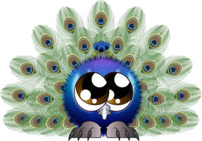 Peacock Fuzzball by Juandfr
