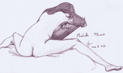 Life Drawing - Pillowed by Juandfr