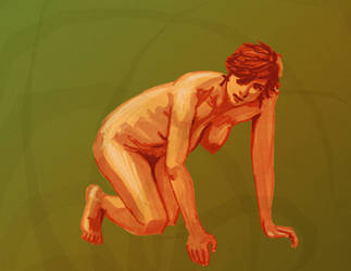 Lifedrawing - Crouching Tiger by Juandfr
