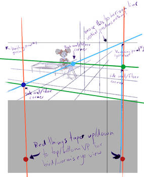 Paint Tool Sai 2 3 Point Perspective Tutorial