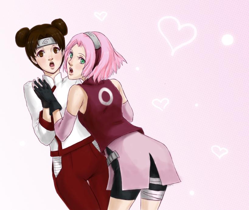 Sakura and Tenten by Sessie
