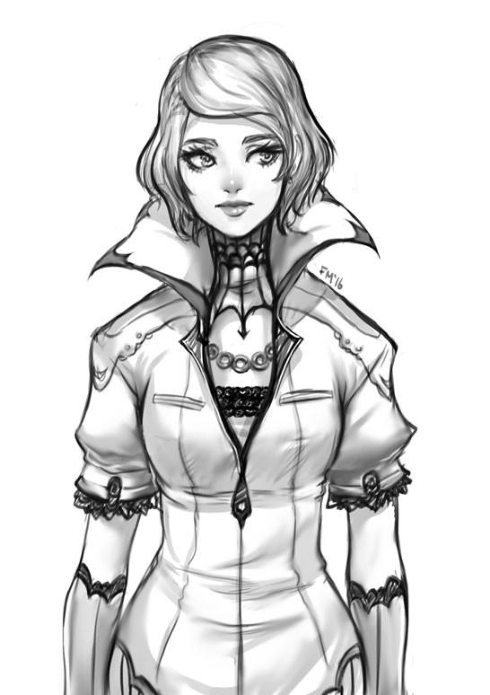 Girl Sketch by Sessie
