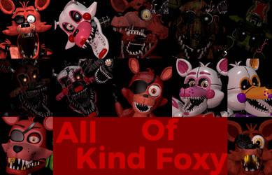 (SFM/FNAF): All Kind Of Foxys by AntonioRodriguez1000